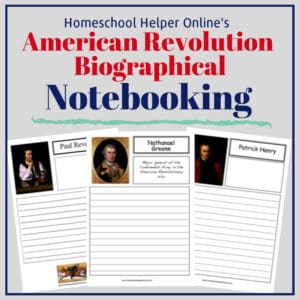 Free printable American Revolution Biographical notebooking pages