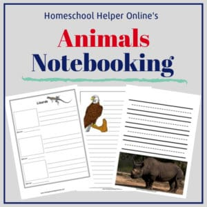 Free printable animals notebooking pages