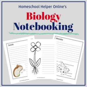 Free printable biology notebooking pages
