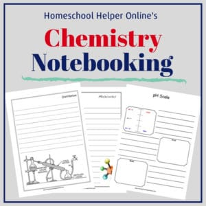 Free printable chemistry notebooking pages