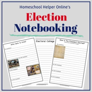 Free printable election notebooking pages