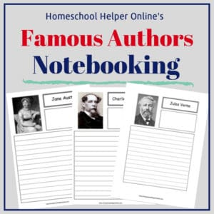 Free printable famous authors notebooking pages