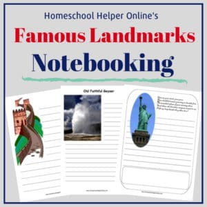 Free printable famous landmarks notebooking pages