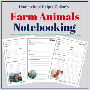 Free printable farm animals notebooking pages