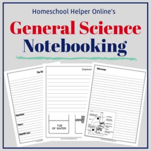 Free printable general science notebooking pages