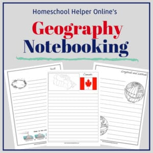 Free printable geography notebooking pages