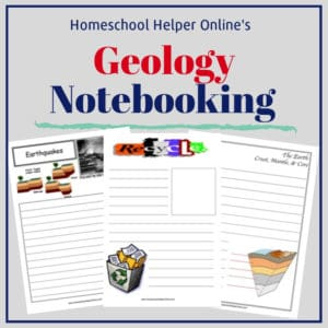 Free printable geology notebooking pages