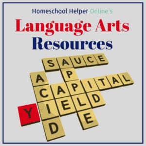 A collection of language arts resources to add to your homeschool classroom