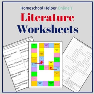 Worksheets based upon classic literature books