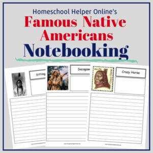 Free printable famous Native Americans notebooking pages