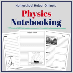 Free printable physics notebooking pages