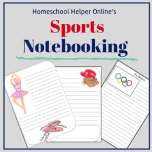 Notebooking pages to use when you are learning about a new sport