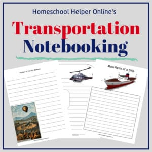 Free printable transportation notebooking pages