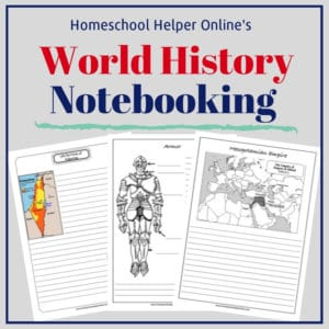 Free printable world history notebooking pages