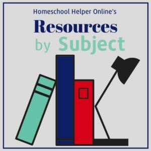 Homeschool Helper Online's Resources by Subject
