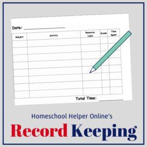 Homeschool Helper Online's Record Keeping