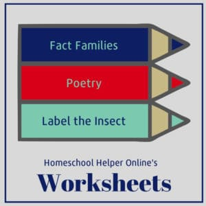 Homeschool Helper Online's Worksheets