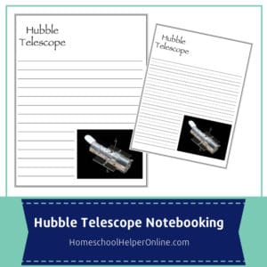 Notebooking pages for the Hubble Space Telescope