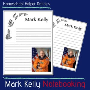 Astronaut Mark Kelly notebooking page