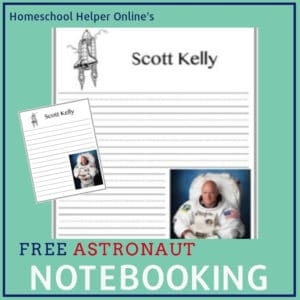 Astronaut Scott Kelly notebooking page
