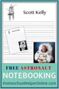 Free astronaut notebooking