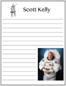 Astronaut Scott Kelly printable notebooking