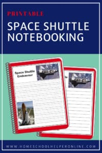 Two notebooking pages for the Space Shuttle Endeavour