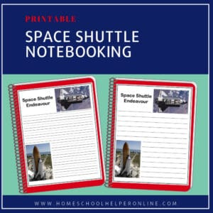 Printable notebooking pages for the Space Shuttle Endeavour