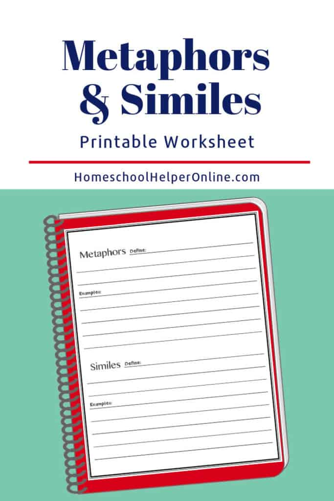 Free printable metaphors and similes worksheet
