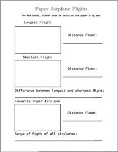 Paper Airplane Math