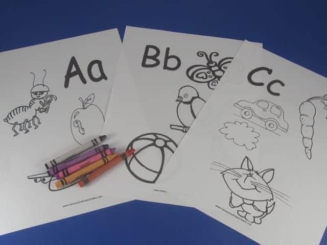 Printable Beginning Letters Worksheet