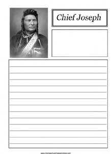 Chief Joseph Notebooking Page