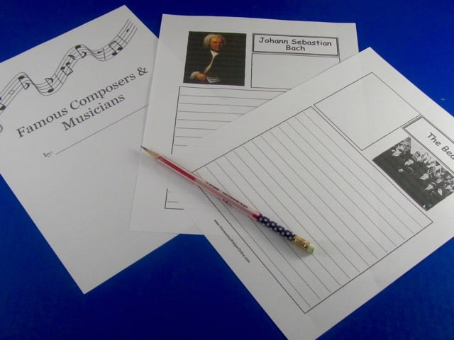 Composers & Musicians Notebooking
