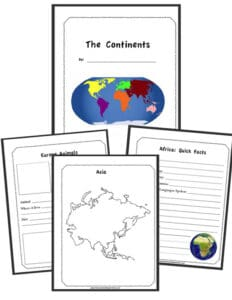 The Continents Notebooking Bundle