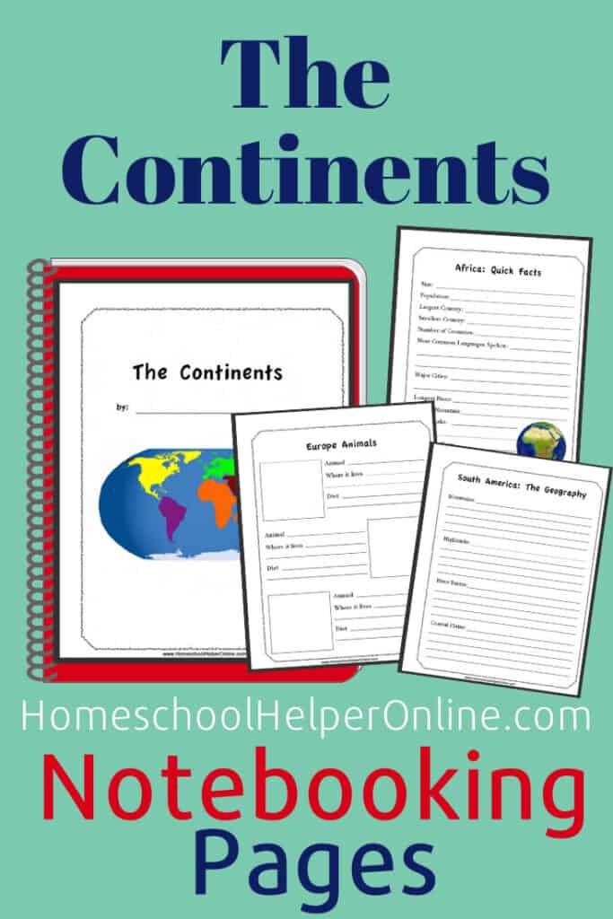 The Continents Notebooking Study