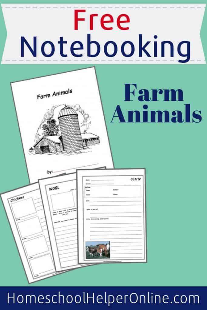 Farm Animals Notebooking Bundle