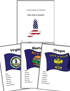 State Flags & Symbols Worksheets