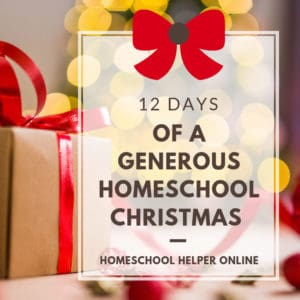 12 Days of a Generous Homeschool Christmas