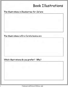 illustrations worksheet
