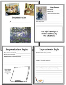 Impressionism Notebooking Bundle