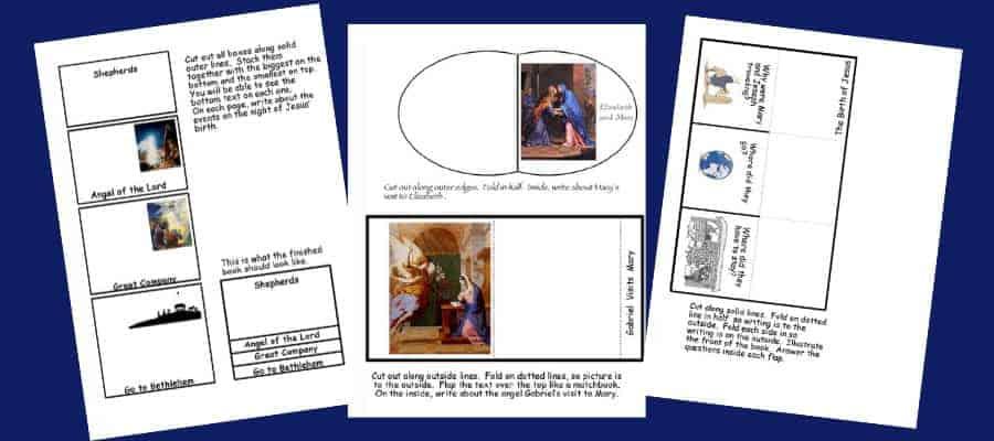 Christmas Nativity Lapbook Printable Elements