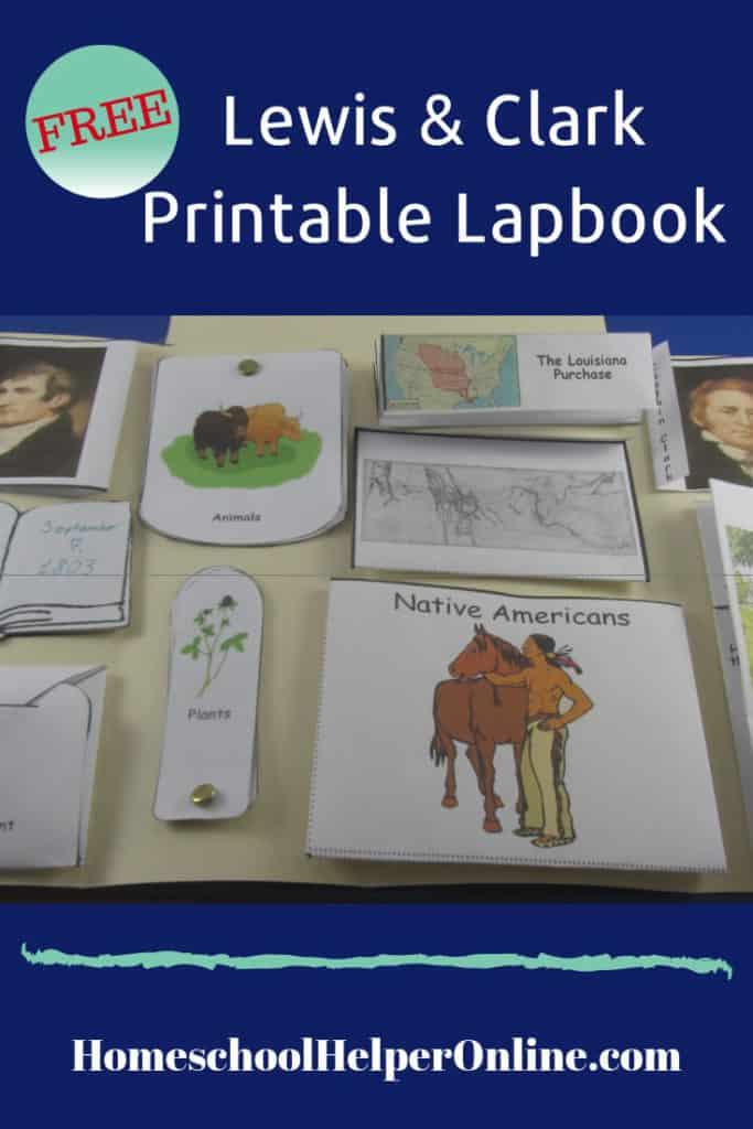 Free printable Lewis & Clark lapbook