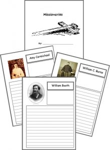 Homeschool Helper Online's Free Famous Missionaries Notebooking Bundle