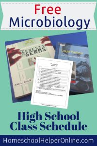 Schedule for Microbiology homeschool class