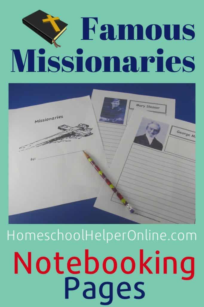 Missionaries Notebooking Bundle