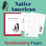 Native American Notebook Pages