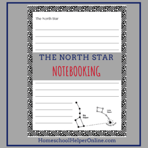 Printable north star notebooking page