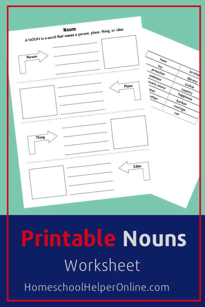 Printable Nouns Worksheet