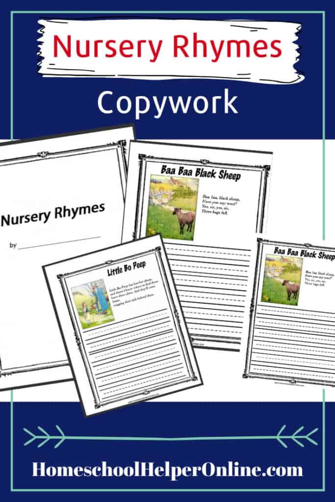 Nursery Rhyme Copywork Bundle