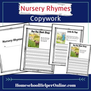 Nursery Rhyme Copywork Bundle